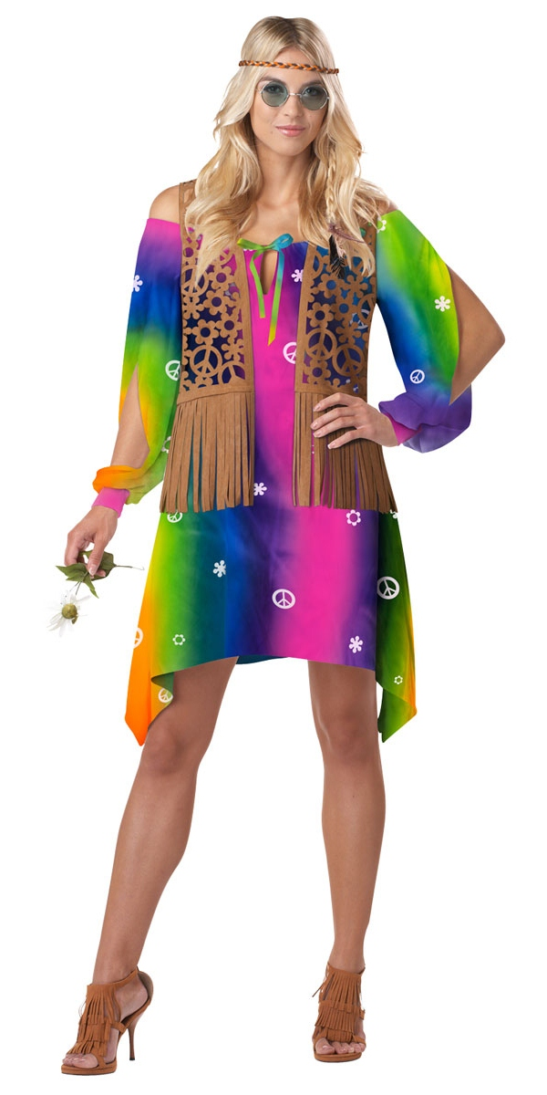 Adult Hippie Chick Costume - 01233 - Fancy Dress Ball