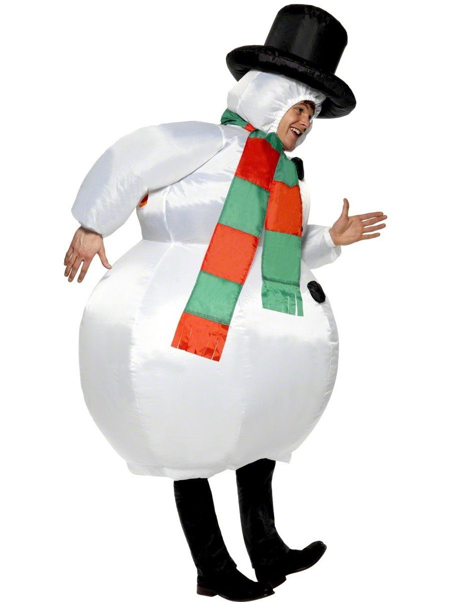 Adult Inflatable Snowman Costume 38155 Fancy Dress Ball