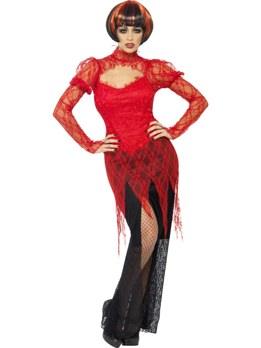 Adult Lace Devil Vampiress Costume - 24374 - Fancy Dress Ball