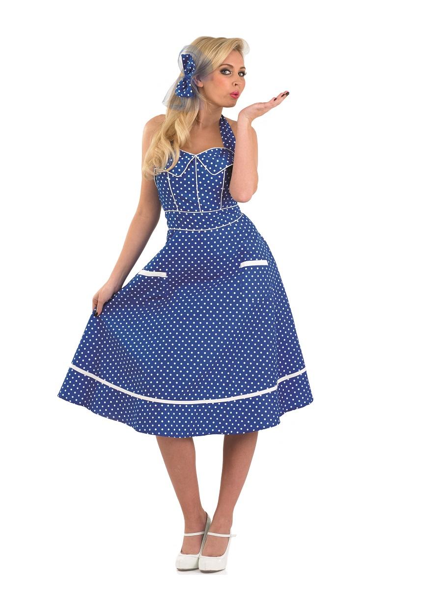 Adult Ladies 50s Blue Dress Costume Fs3665 Fancy Dress