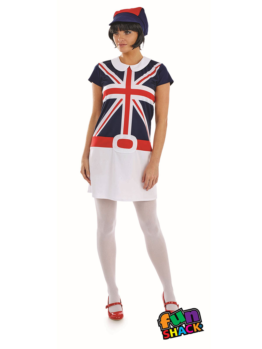 Ladies 60 S Mod Girl Costume Fs4333 Fancy Dress Ball