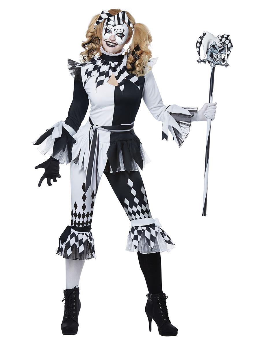 Ladies Crazy Jester Costume 01476 Fancy Dress Ball