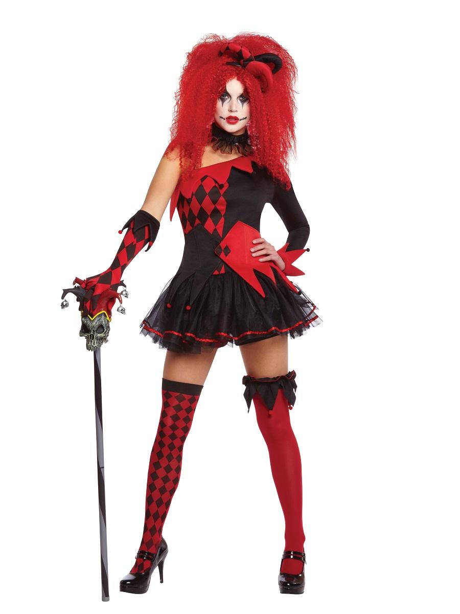 Decorating Ideas > Adult Ladies Jesterina Costume  996205  Fancy Dress Ball ~ 185751_Halloween Costume Door Old Ladies