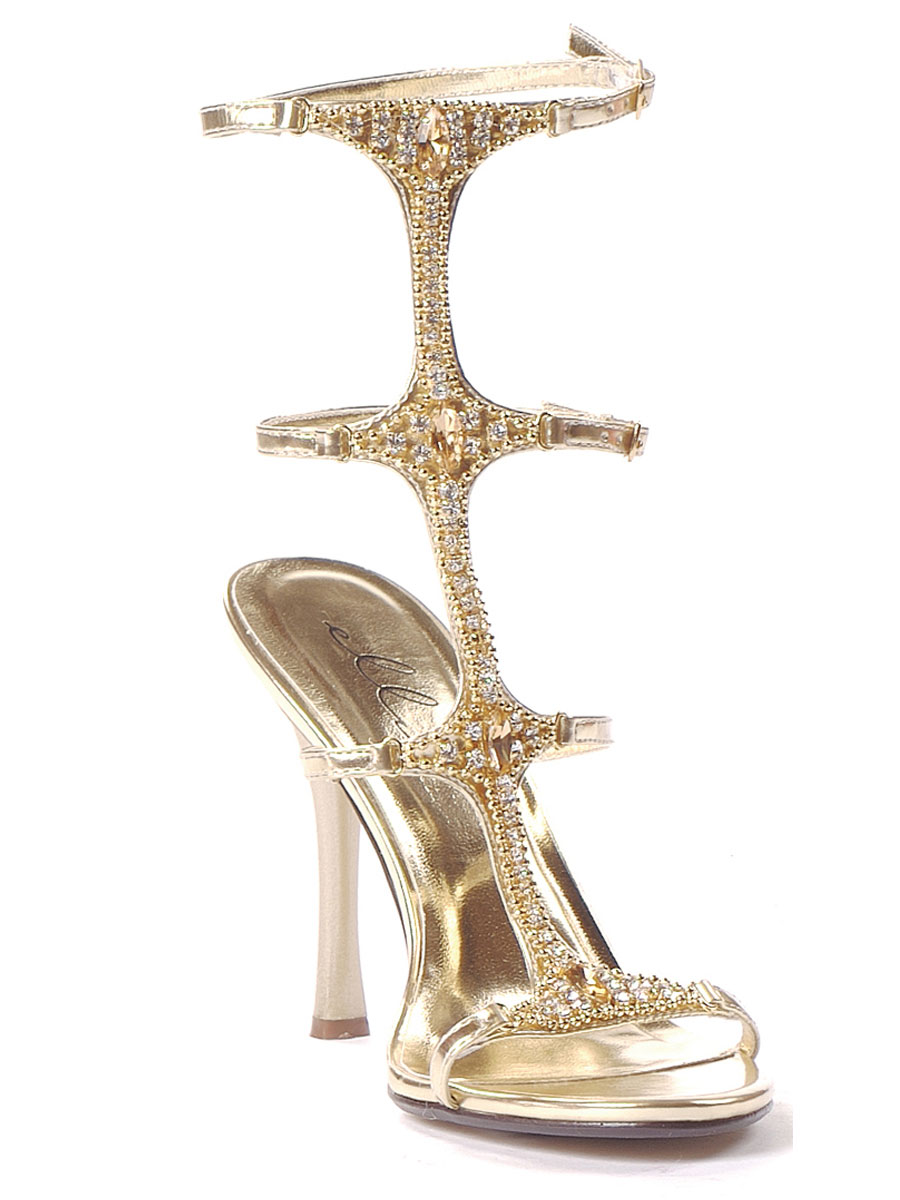 Ladies Jeweled Sandals 457 Michelle Fancy Dress Ball