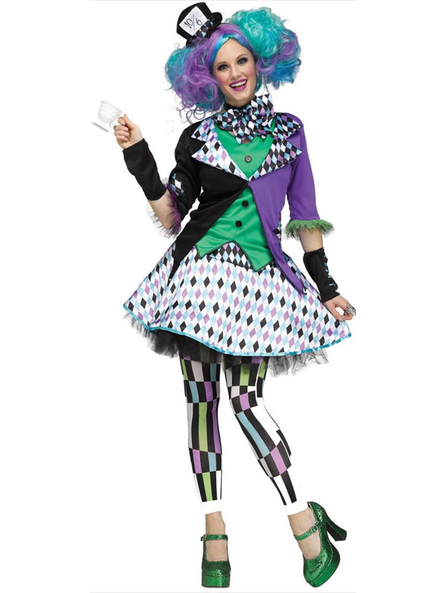 Ladies Mad Hatter Costume 3258a Fancy Dress Ball