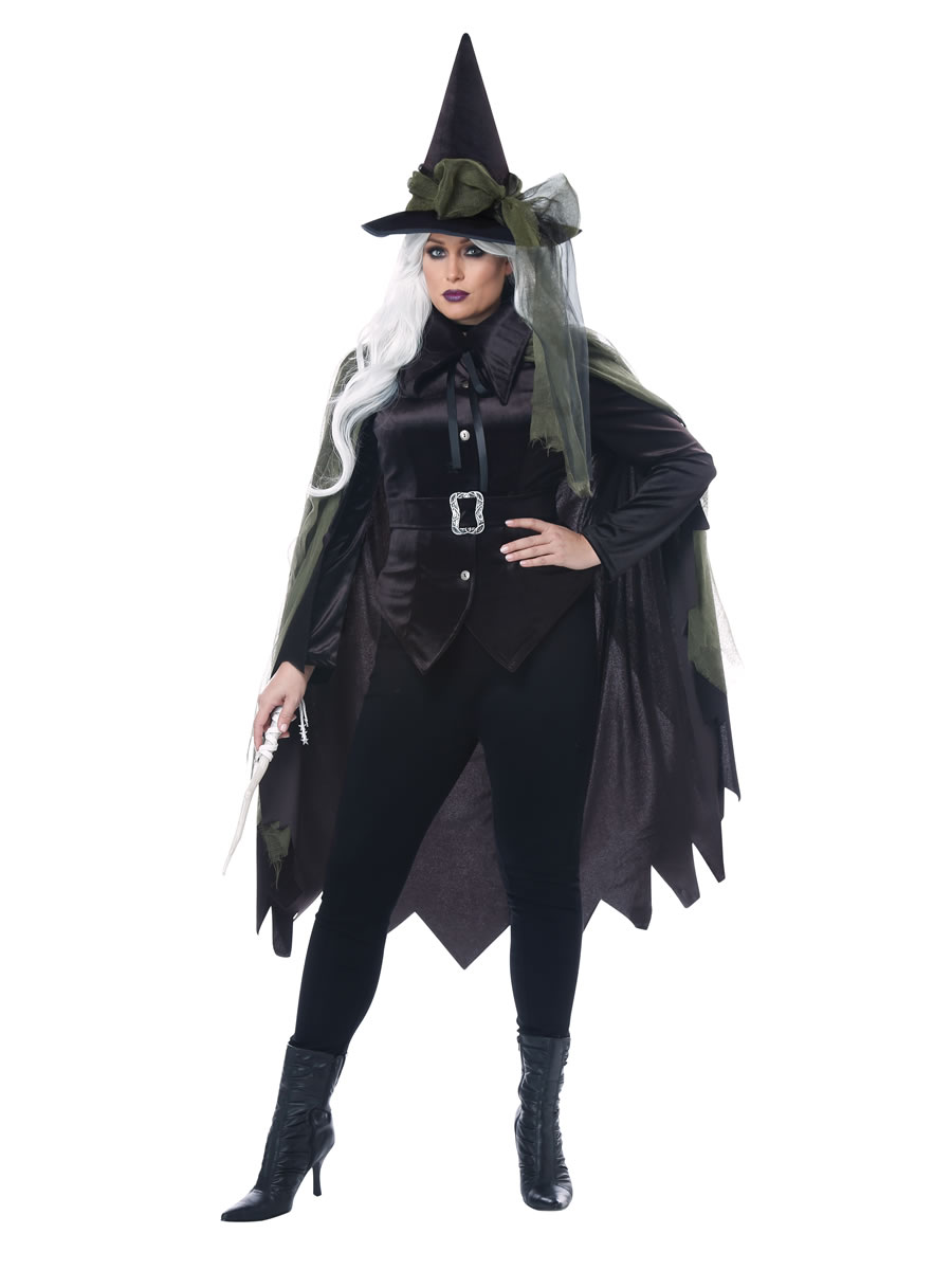 Women's Salem Witch Plus Size Costume |Plus Size Halloween Costumes Witch