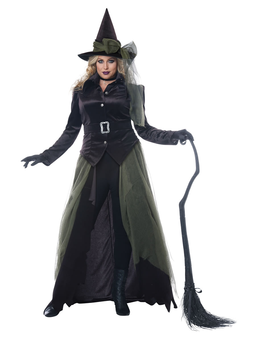 9c8a4dcfc6e Ladies Plus Size Gothic Witch Costume - 01791 - Fancy Dress Ball