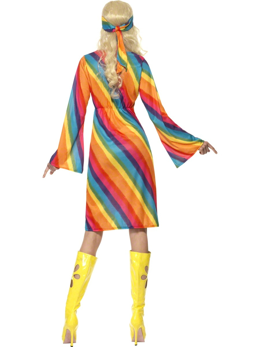 Adult Ladies Rainbow Hippie Costume - 22442 - Fancy Dress Ball