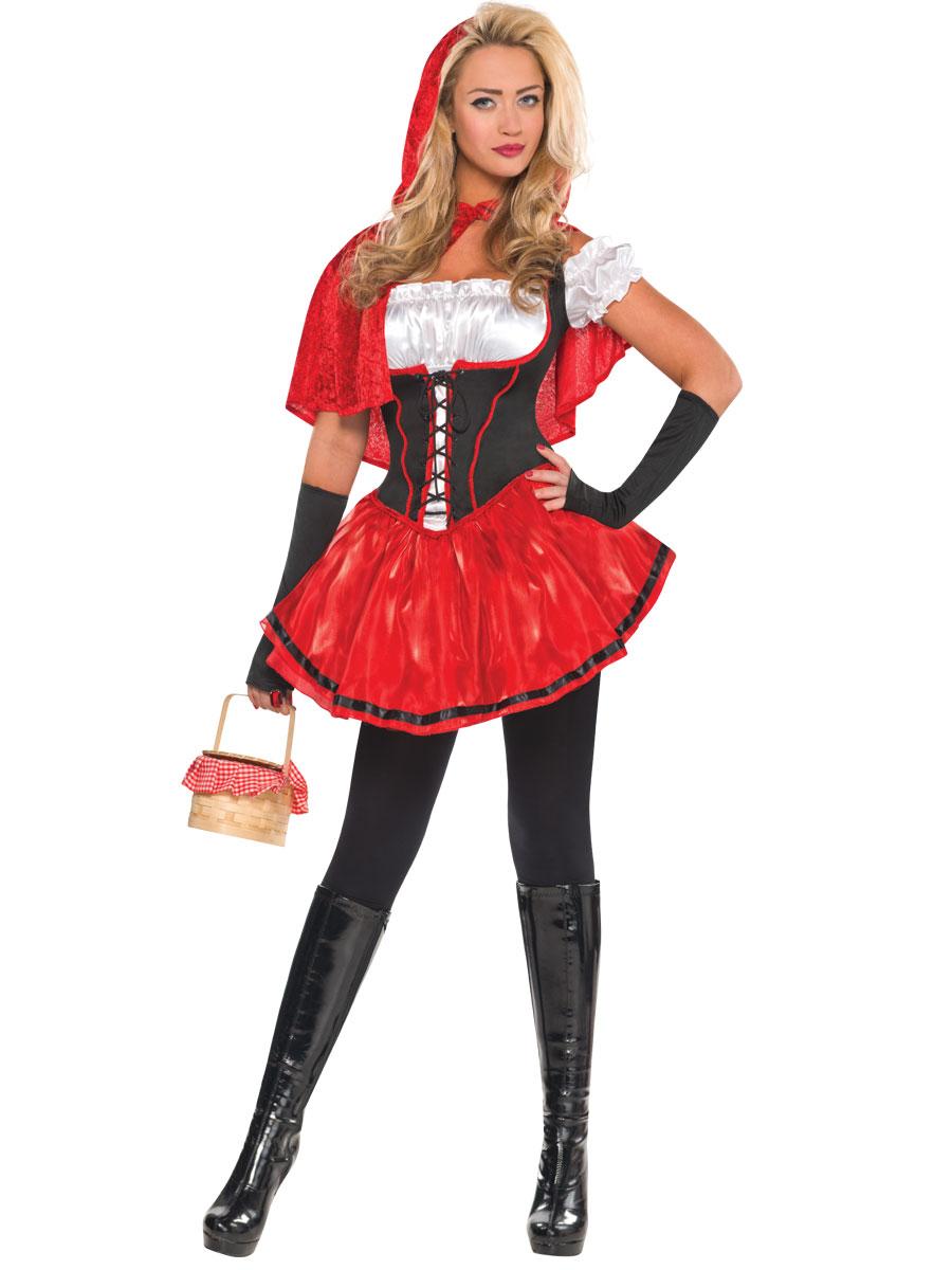 Ladies Red Riding Hood Costume 996966 Fancy Dress Ball