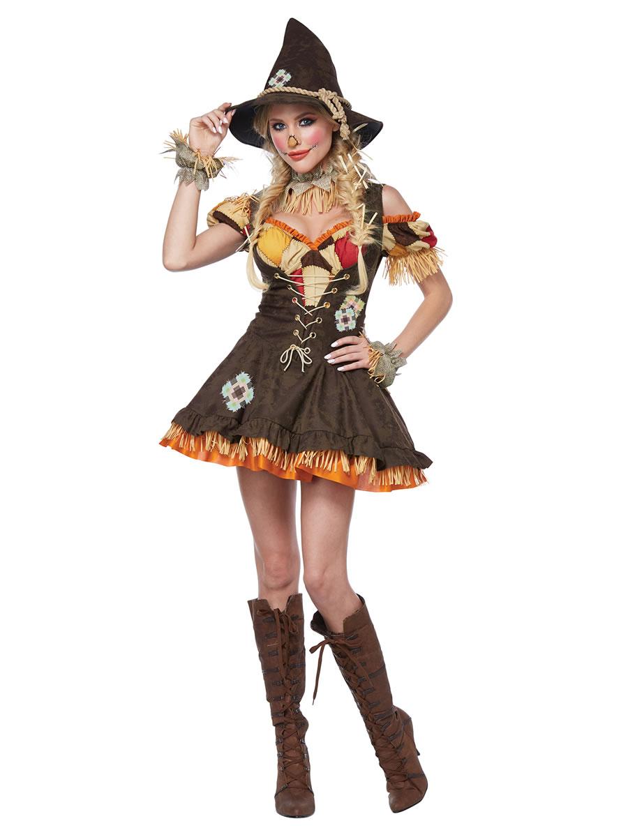 ladies sassy scarecrow costume - 01483 - fancy dress ball