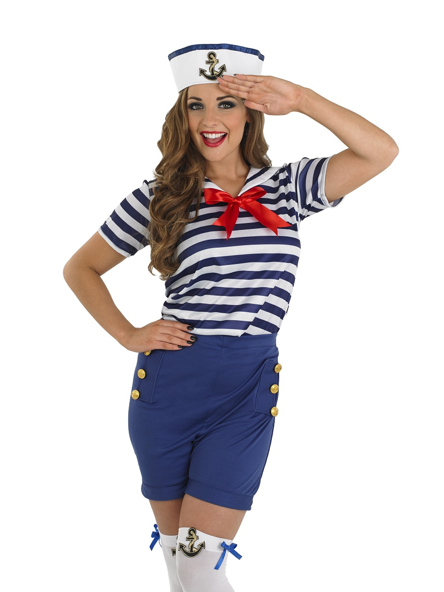 adult sassy sailor costume fs3685 fancy dress ball. Black Bedroom Furniture Sets. Home Design Ideas