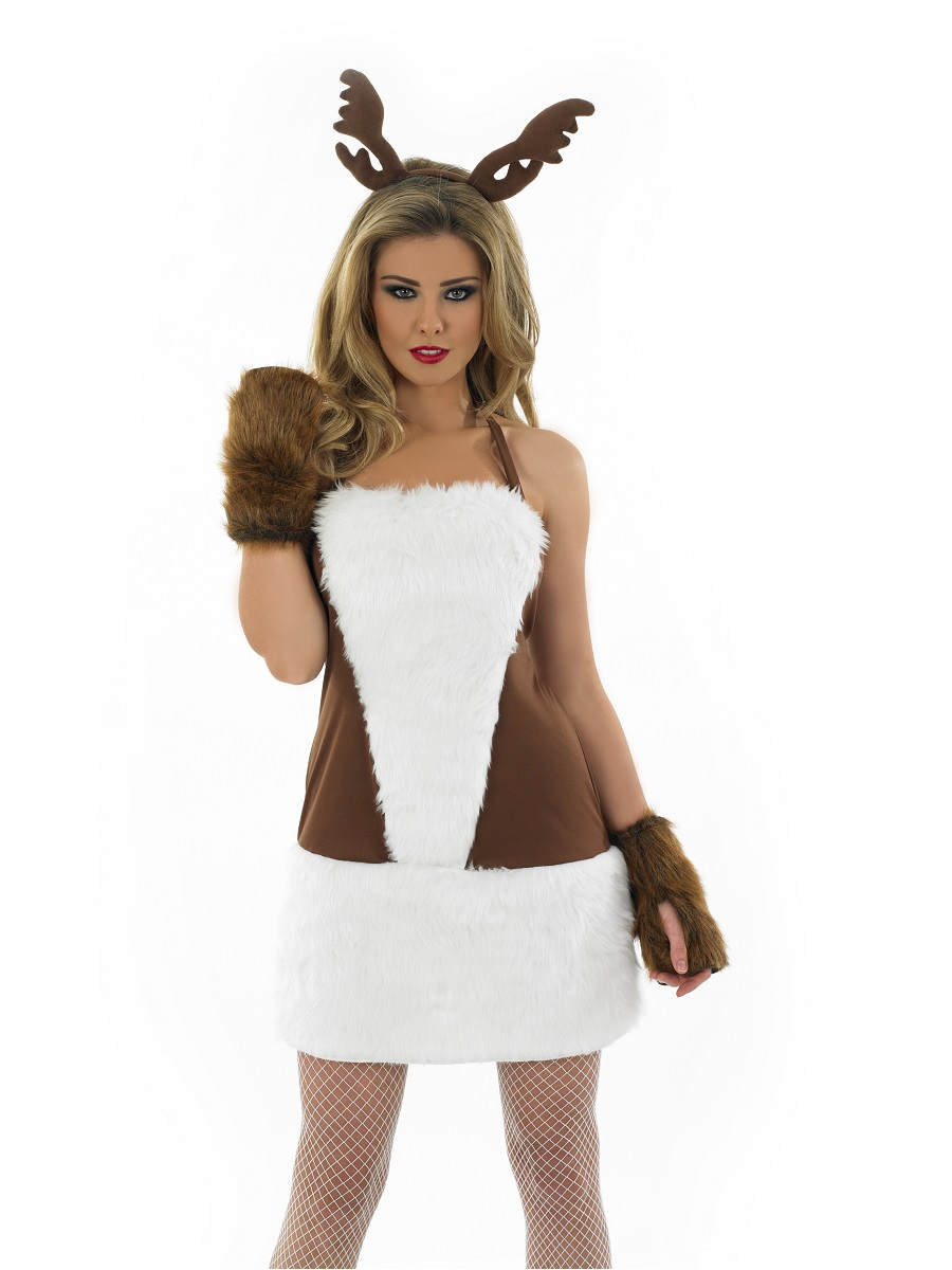Adult ladies sexy reindeer costume fs3607 fancy dress ball