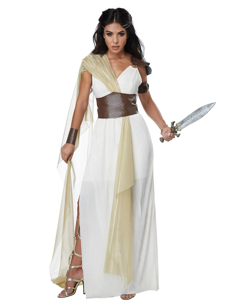 0f8e4909f6c Adult Golden Goddess Costume - Roman   Greek Costumes · £19.99 · Ladies  Spartan Warrior Queen Costume