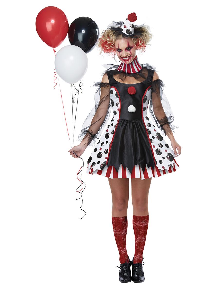 051ba8a0eb20 Ladies Twisted Clown Costume - 01435 - Fancy Dress Ball