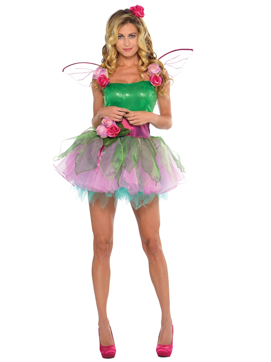 Ladies Woodland Nymph Fairy Costume Fancy Dress
