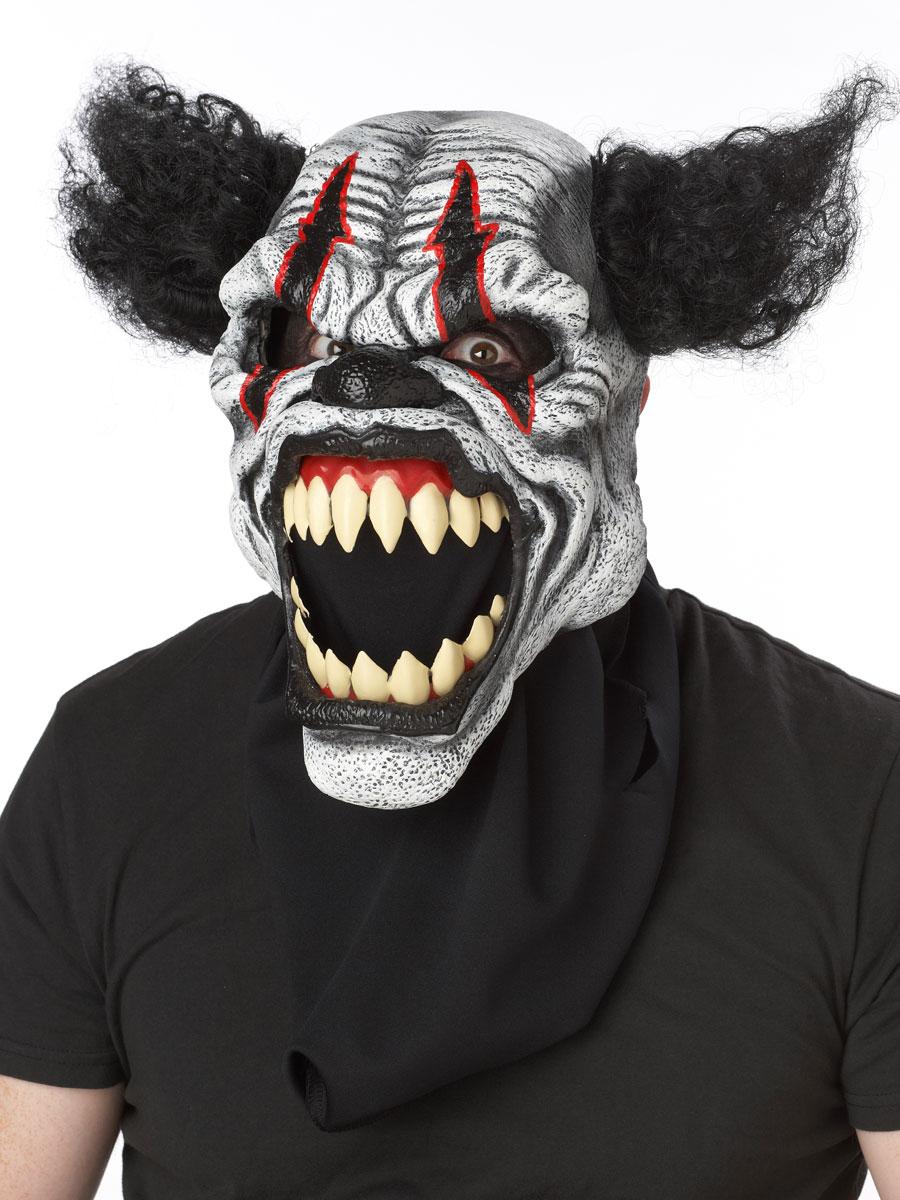 adult last laugh clown ani-motion mask - 60509 - fancy dress ball