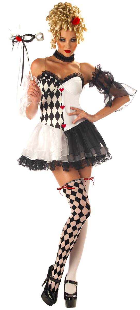 Christmas dresses at kmart - Adult Le Belle Harlequin Costume 01066 Fancy Dress Ball