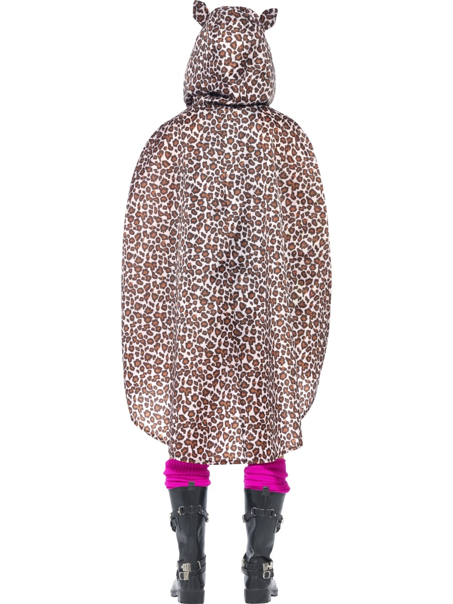 Leopard party poncho festival costume 27608 fancy dress ball