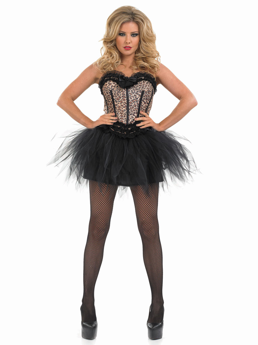 86dc938035 Adult Burlesque Leopard Tutu Costume - Back View · VIEW FULL IMAGE Sc 1 St Fancy  Dress Ball
