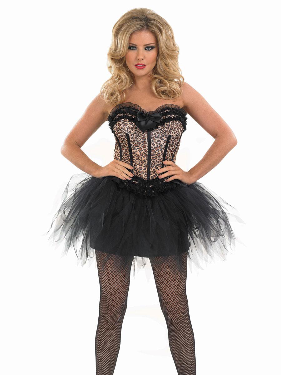 Adult Burlesque Leopard Tutu Costume  sc 1 st  Fancy Dress Ball & Moulin Rouge Fancy Dress Burlesque Costumes - Fancy Dress Ball