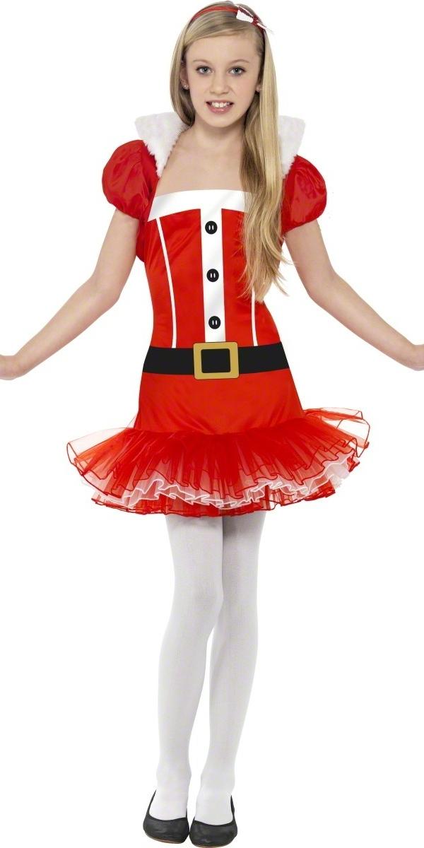 Child Little Miss Santa Tutu Costume 25440 Fancy Dress