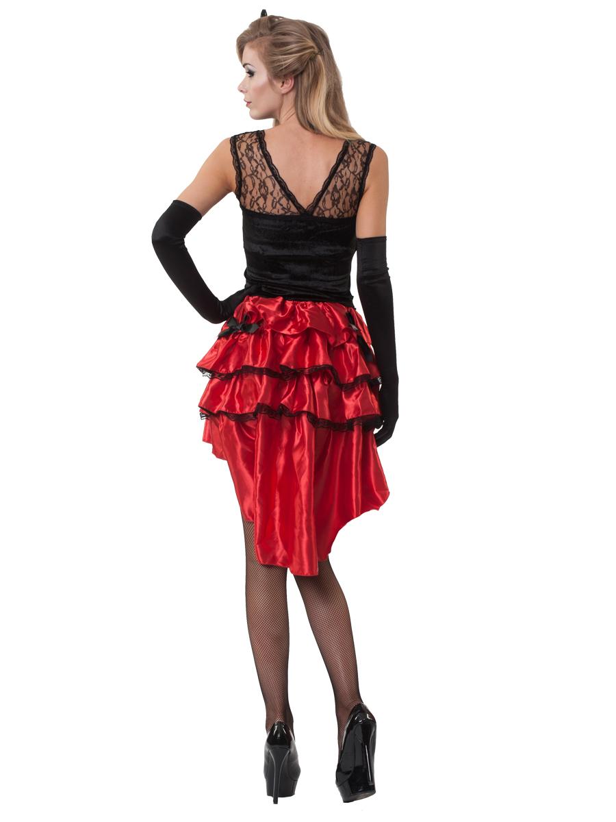 Lola Jet Burlesque Costume 996418 Fancy Dress Ball