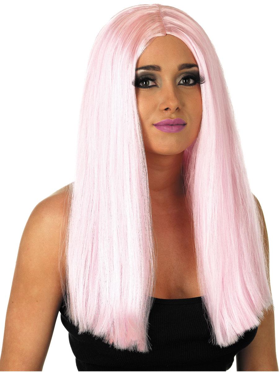Long Baby Pink Wig Fs2840 Fancy Dress Ball
