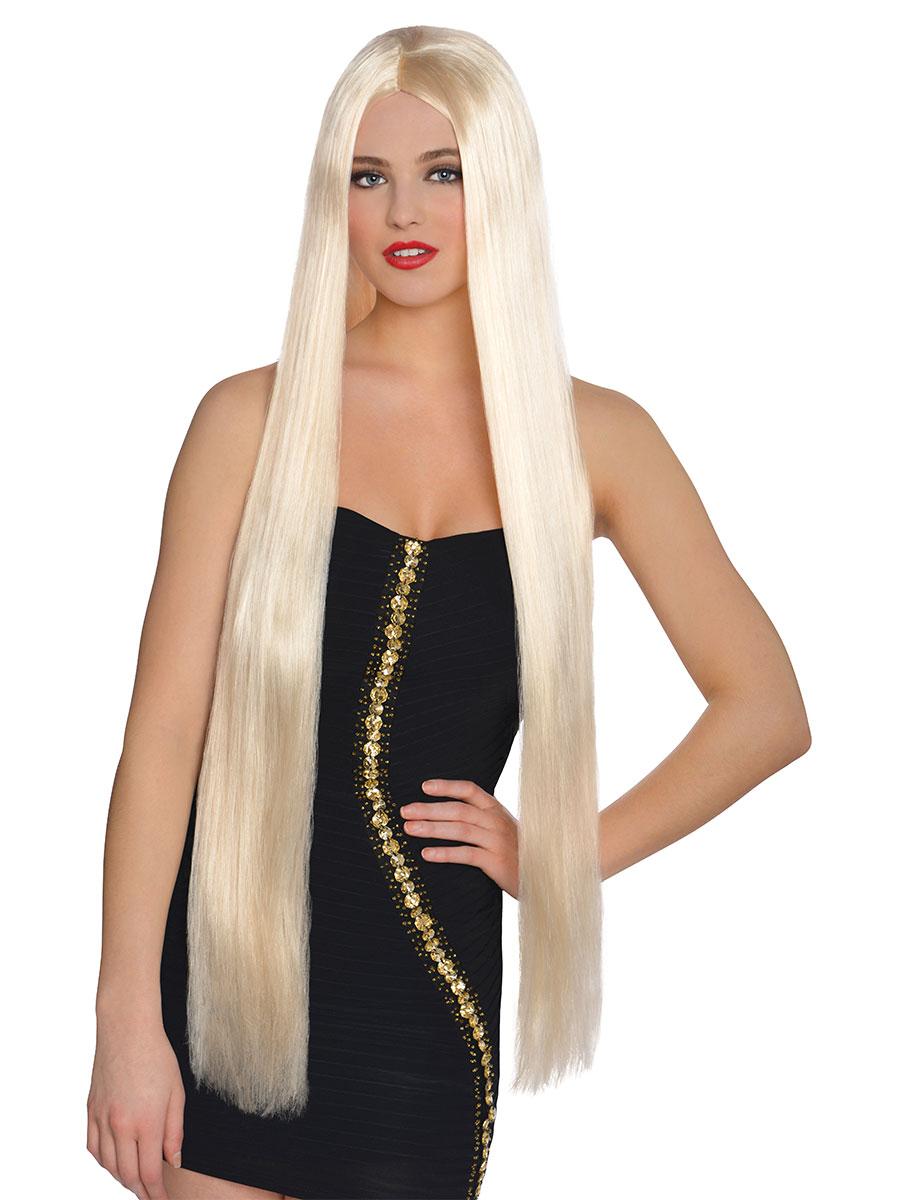 Long Lavish Blonde Wig 840354 55 Fancy Dress Ball