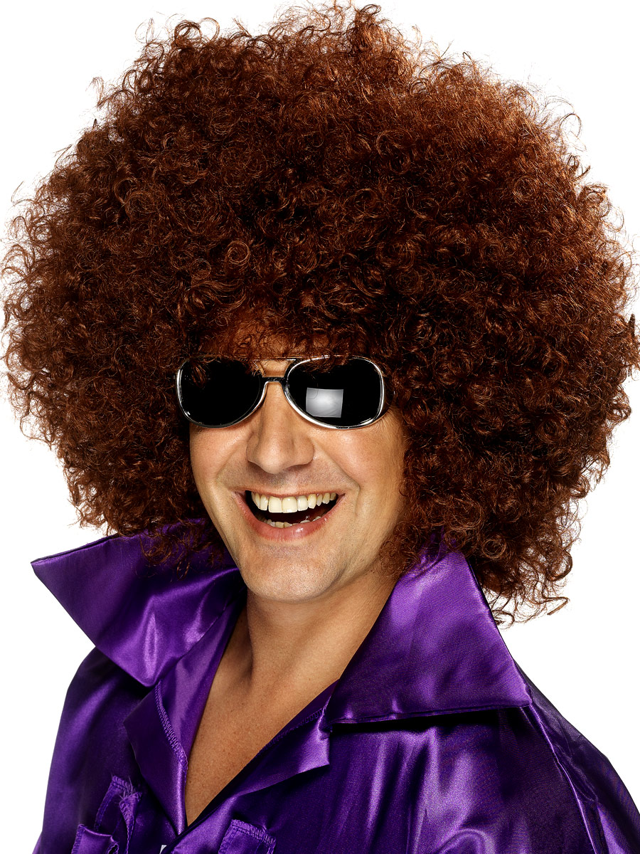 Mega Huge Afro Wig Brown Fancy Dress Ball
