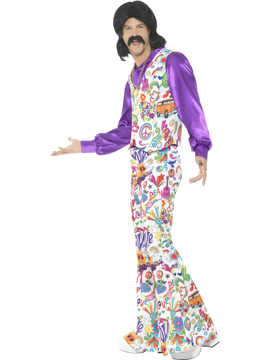 Mens 60u0027s Groovy Hippie Costume - Back View · VIEW FULL IMAGE  sc 1 st  Fancy Dress Ball & Mens 60u0027s Groovy Hippie Costume - 44904 - Fancy Dress Ball