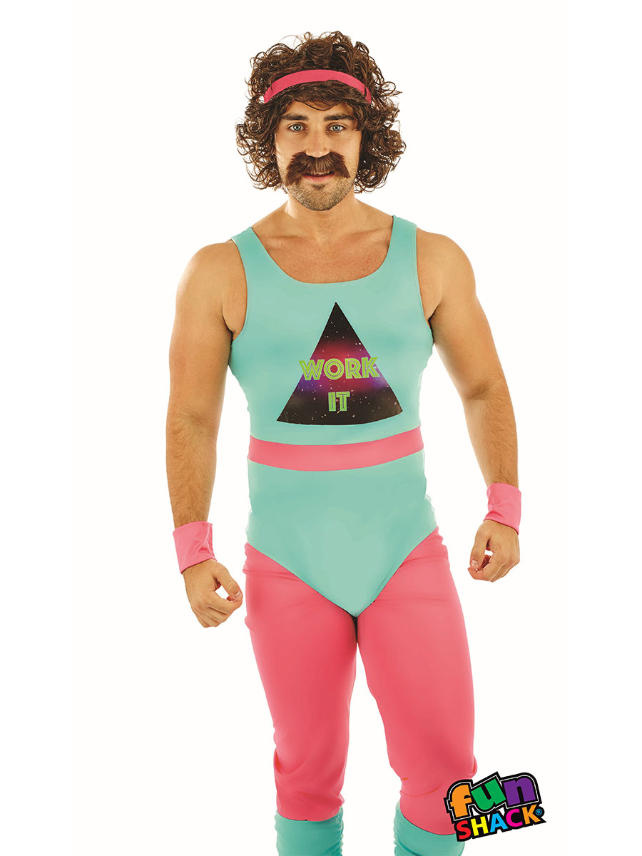 Mens 80s Fitness Instructor Costume