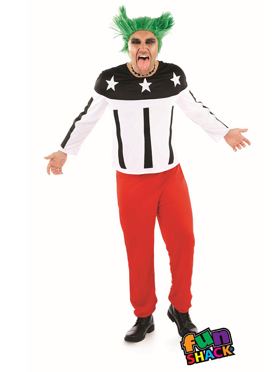 mens 90's rave starter costume - fs4368 - fancy dress ball