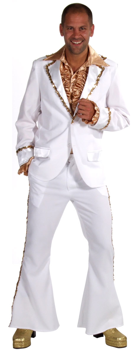 Adult Mens Bling Suit White Costume