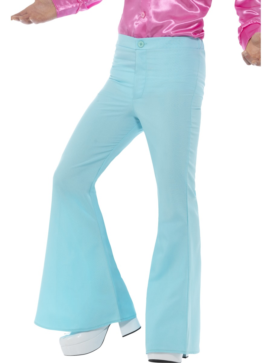 Mens Blue Flared Trousers 48193 Fancy Dress Ball