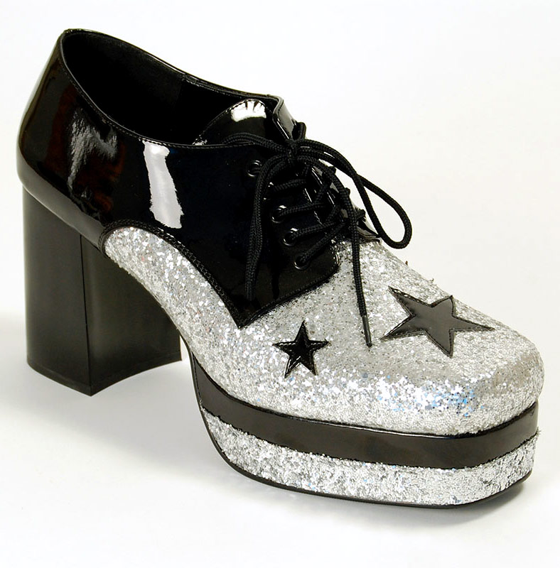 s glam rock platform shoes glam02bsg fancy dress