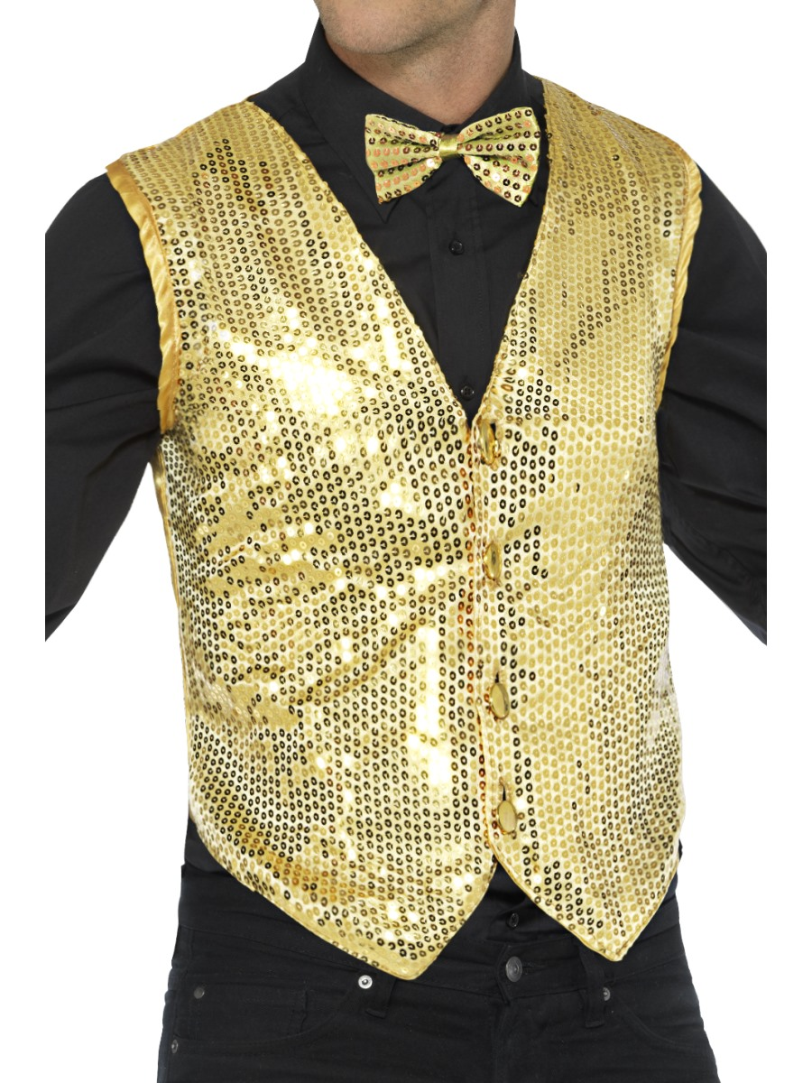 Shop men's and women's sequin vests by color and pattern. Dance costumes vests available in black, emerald green, gold, fuchsia, silver, red, royal blue, turquoise colors and rainbow pattern. Sequin vests tops for party events and holidays.
