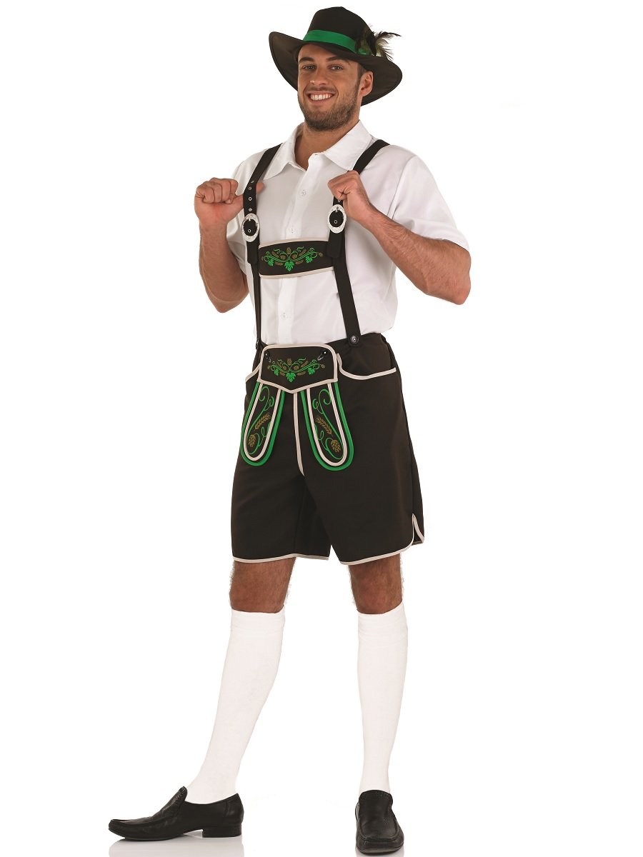 Bavarian Man Lederhosen Fancy Dress Costume