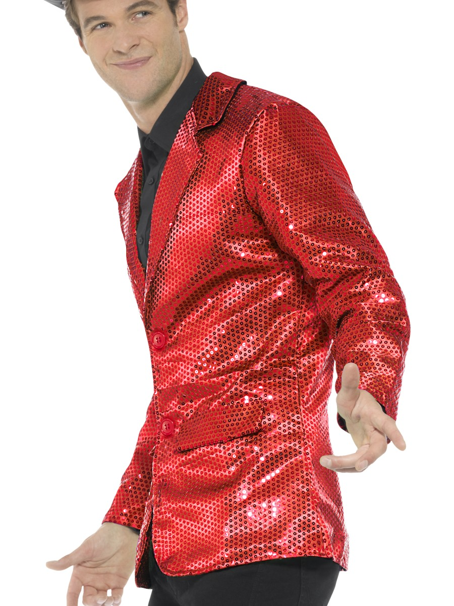 006d328e630 Mens Red Sequin Jacket - Back View · VIEW FULL IMAGE