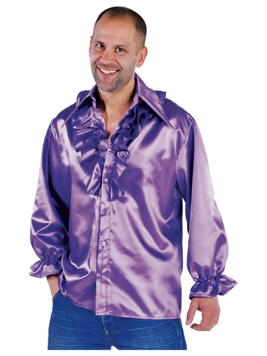 Mens Soul Shirt Purple 213220 10 Fancy Dress Ball