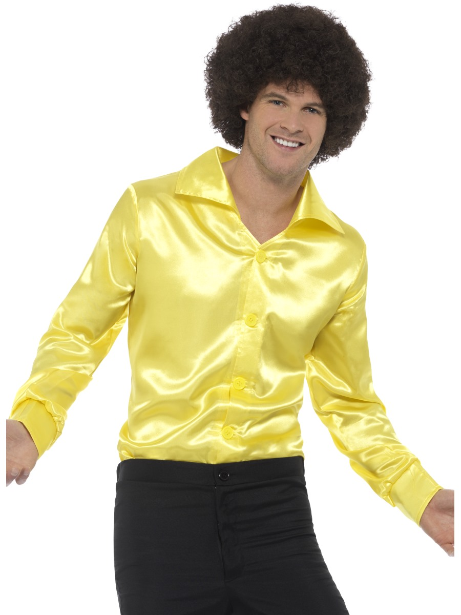 Mens Yellow 60u0026#39;s Shirt - 48198 - Fancy Dress Ball