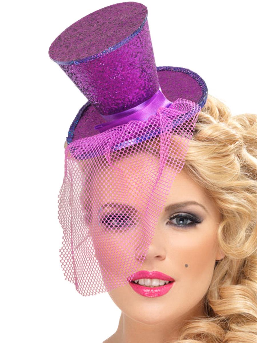 Mini Top Hat Purple 21299 Fancy Dress Ball