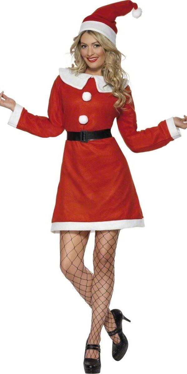Adult miss santa costume  fancy dress ball