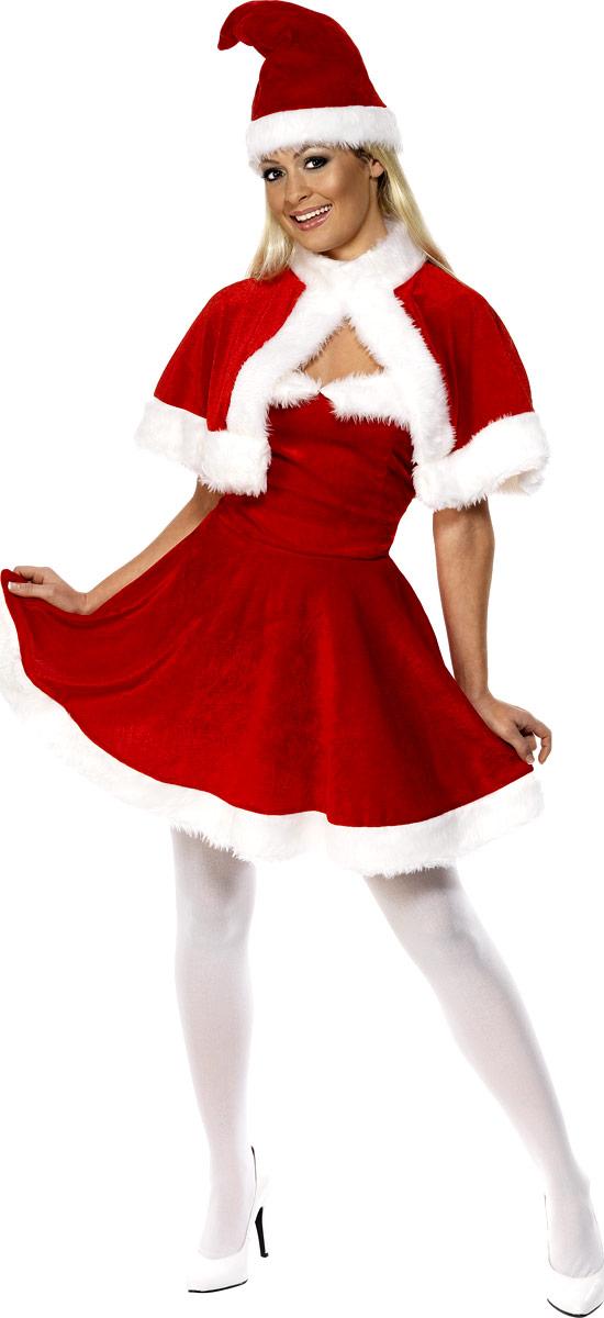 Adult Miss Santa Costume 33317 Fancy Dress Ball