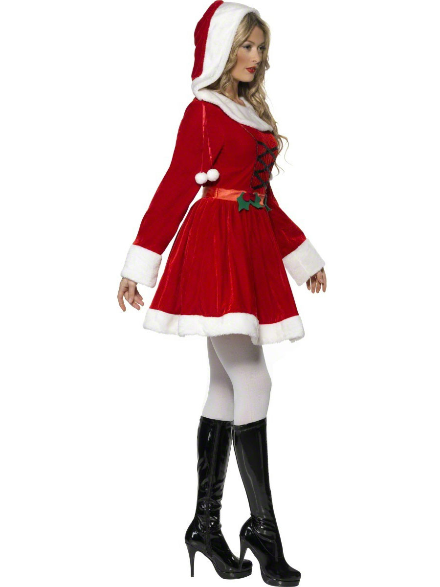 Adult Miss Santa Costume 33597 Fancy Dress Ball