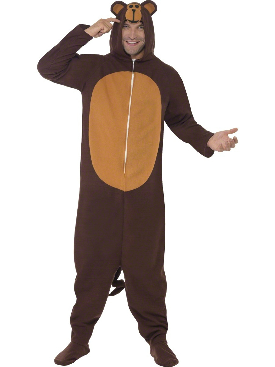 25d2368e55 Adult Monkey Onesie Costume - 23633 - Fancy Dress Ball