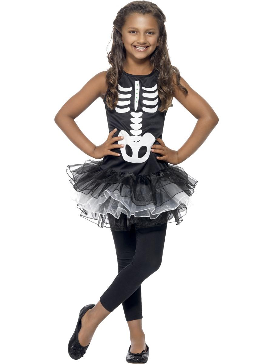 Child skeleton tutu costume 43029 fancy dress ball - Costume halloween fille ...