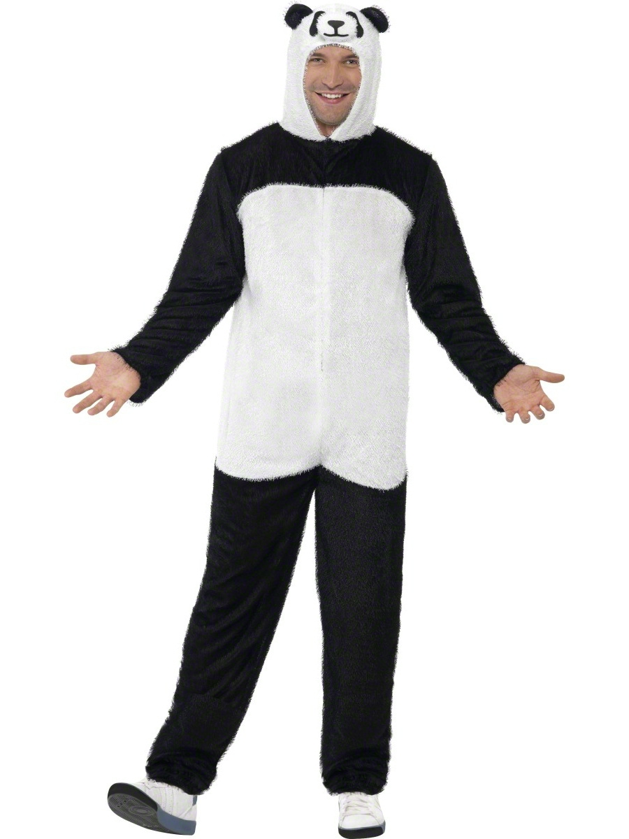 adult panda onesie costume 22399 fancy dress ball. Black Bedroom Furniture Sets. Home Design Ideas