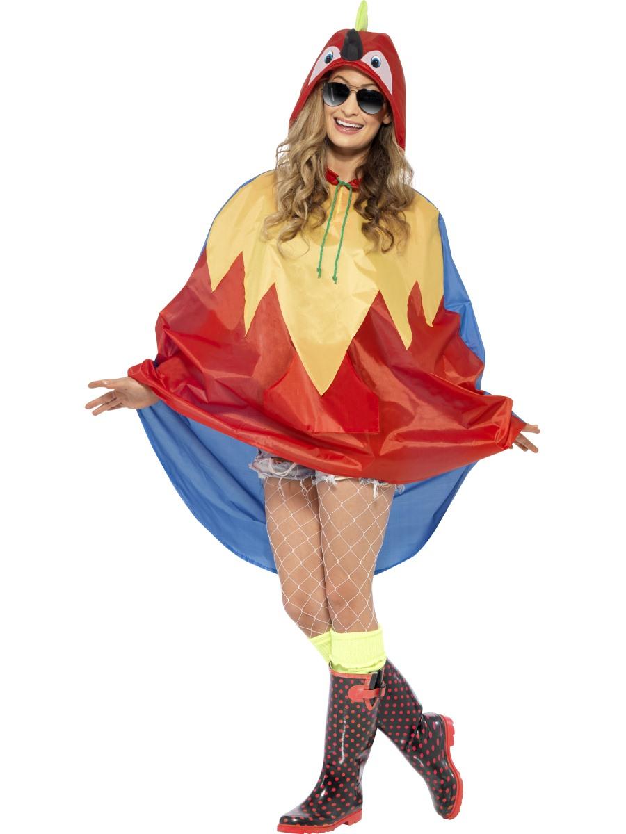 Parrot Party Poncho Festival Costume 27611 Fancy Dress