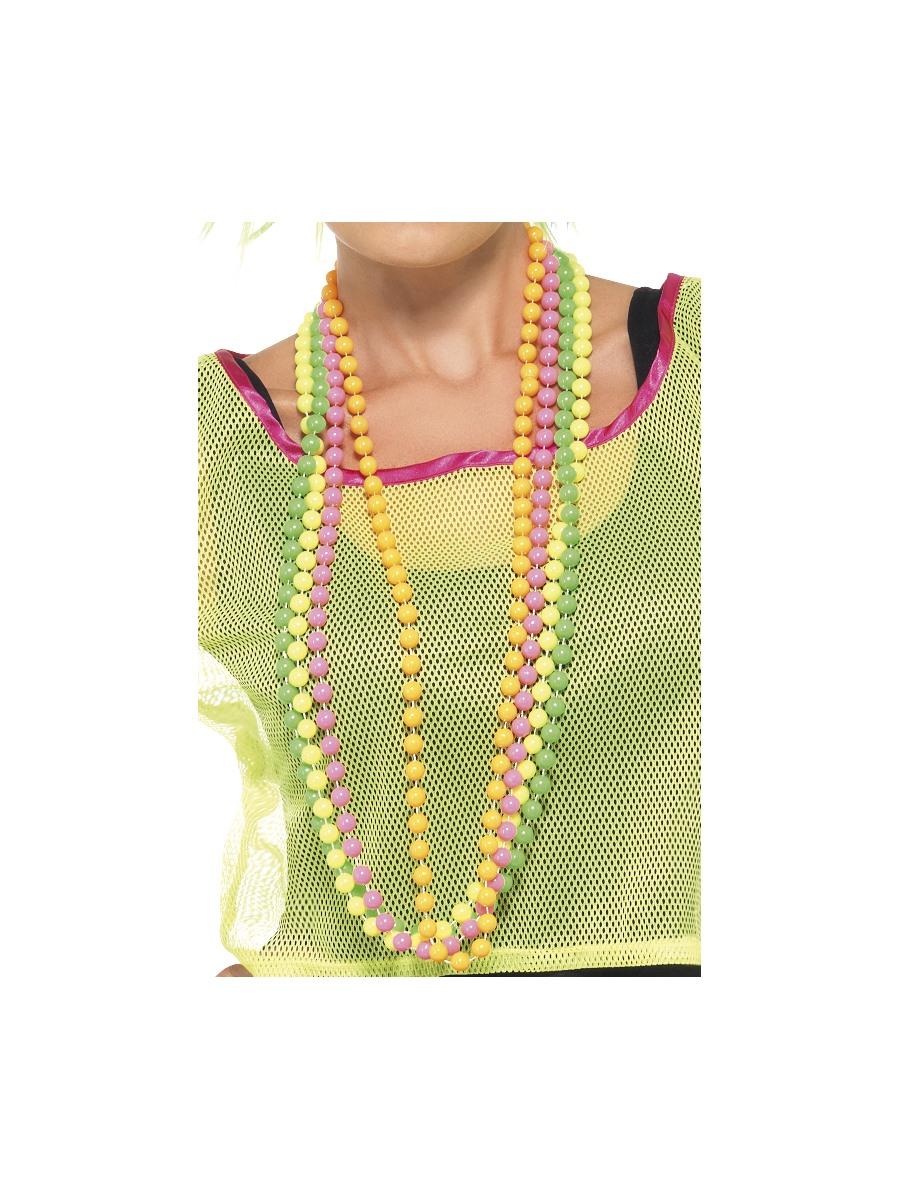 Party Beads Fluorescent 25227 Fancy Dress Ball