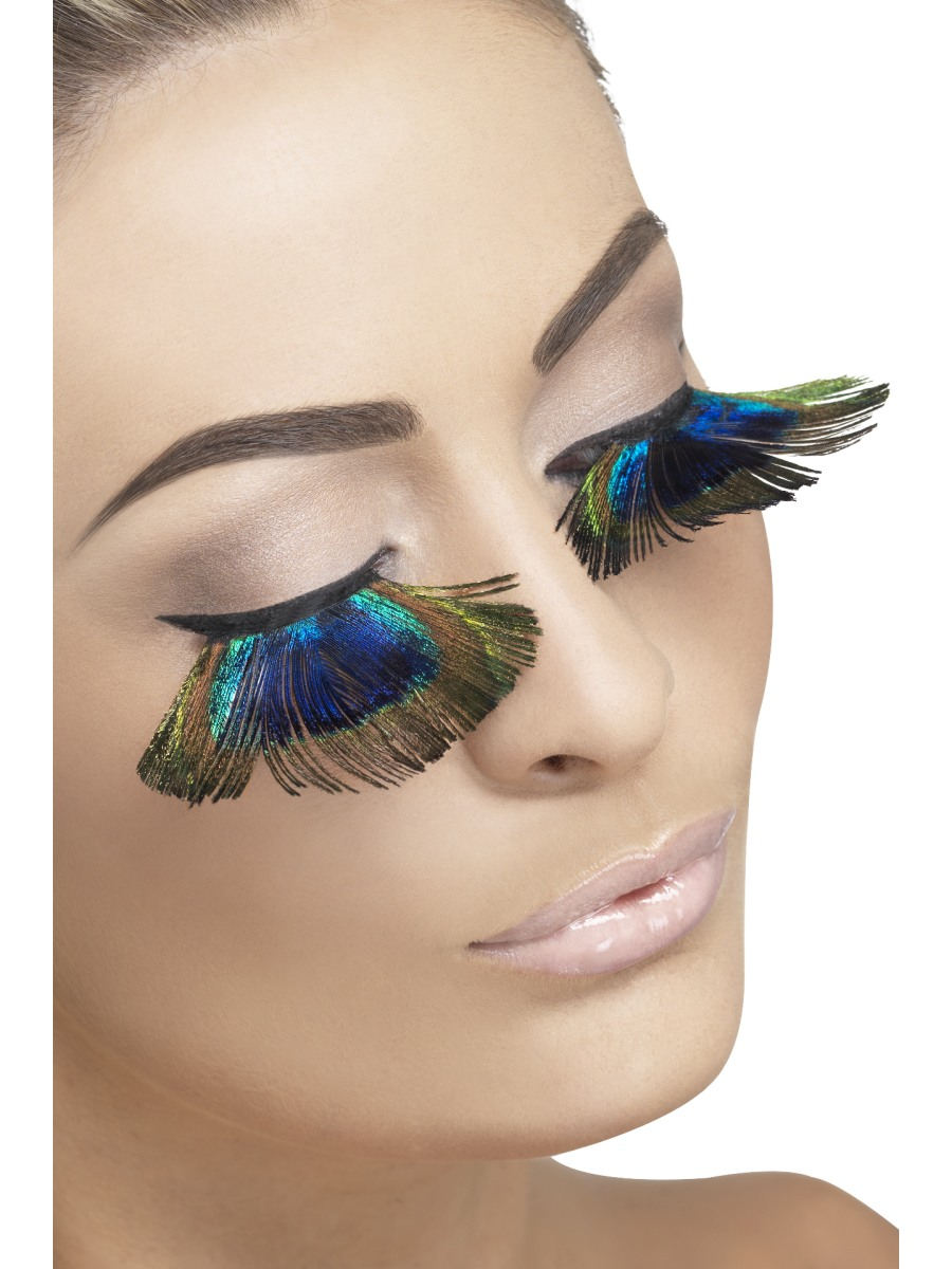 c45f66b91d0 Peacock Feather Eyelashes - 25431 - Fancy Dress Ball